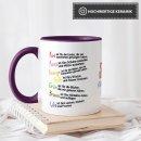 Tasse für Kinder mit Spruch zum Kitaabschied - Danke...