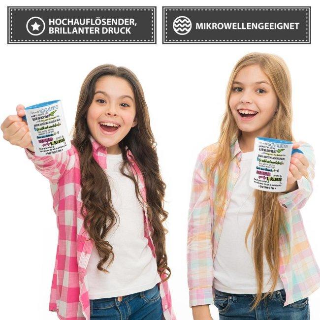 Tasse zur Einschulung für Kinder mit Spruch - Für unser großes Schulkind