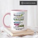 Tasse zur Einschulung für Kinder mit Spruch -...