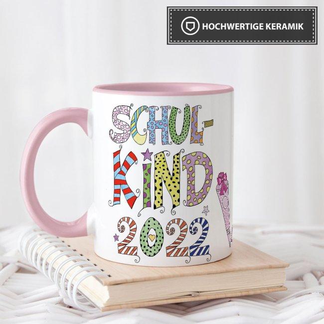 Tassen für Kinder zur Einschulung - Schulkind Jahreszahl -