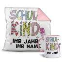 Geschenk-Set - Kissen und Tasse Schulkind - Ihr...