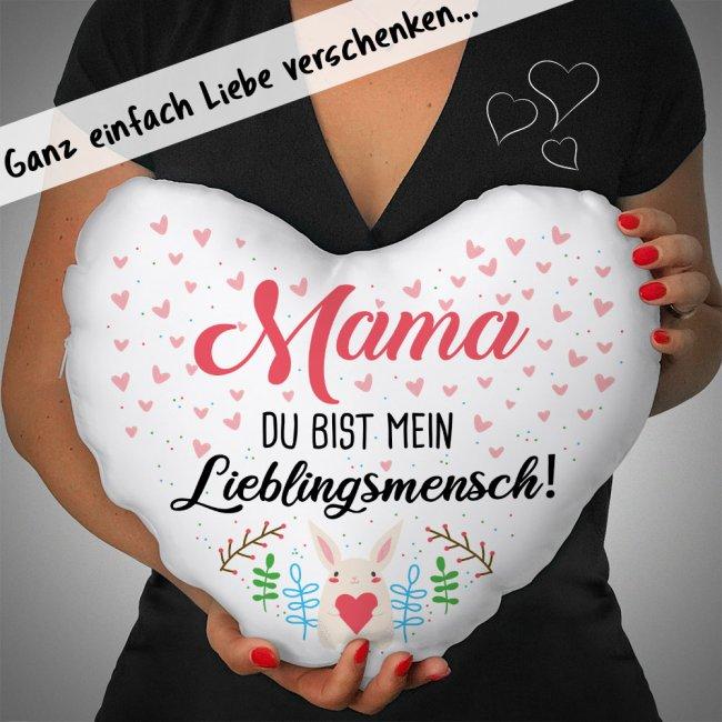 Herz-Kissen - Mein Lieblingsmensch - Für Mama