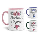Tassen mit schönem Blumenmotiv - Allerbeste...