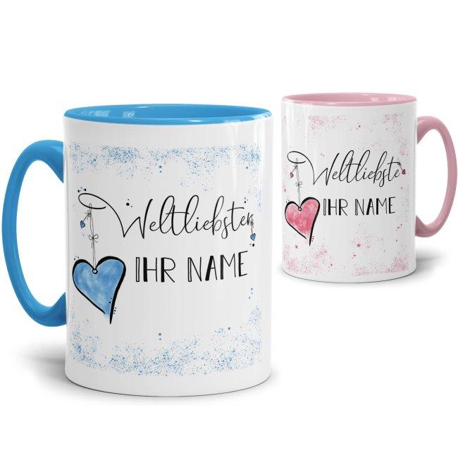 Namenstasse mit WUNSCHNAME für weltliebste Freunde und Familie