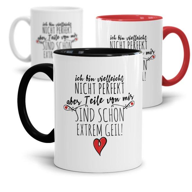 Tassen mit Spruch - Ich bin vielleicht nicht perfekt