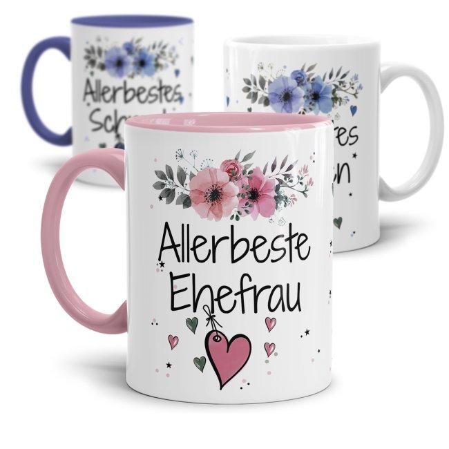 Tasse mit Spruch - Allerbeste/Allerbester Freundin-Freund -