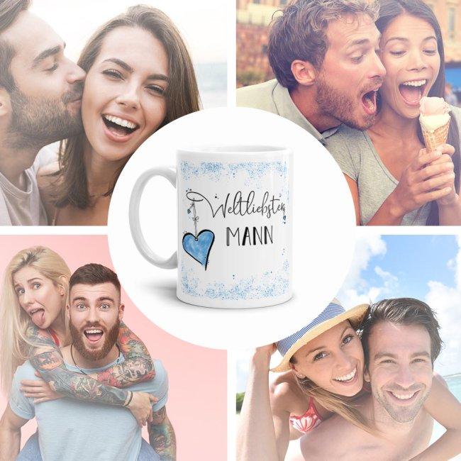 Tasse mit Kosename - Weltliebster Mann - Weiß